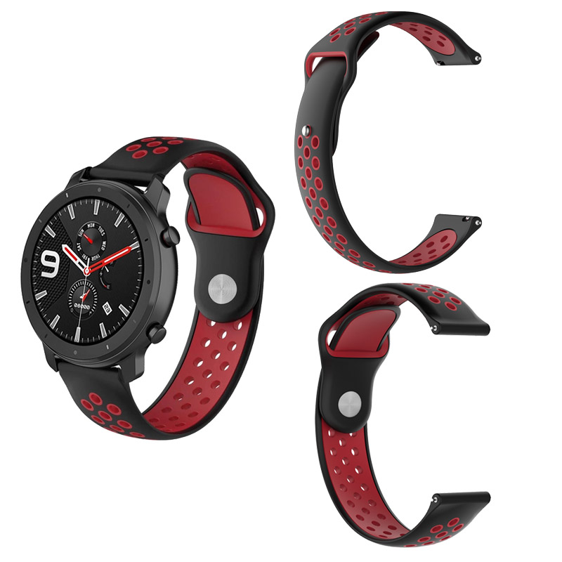 22mm Silicone Bracelet Strap For Xiaomi Amazfit GTR 47mm Pace Stratos 2 2s Watchband For Samsung Gear S3 Galaxy 46mm Watch Band