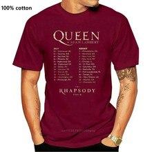 Queen + Adam Lambert the Rhapsody tour concert 2020 tee shirt S-5XL cool 100% cotton tshirt mens custom men t shirt 2020 HipHop