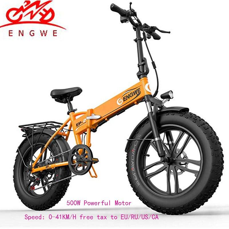 Bici elettrica 20*4.0 pollici In Alluminio Pieghevole Bicicletta elettrica 48V10A 500W 40 KM/H 6 Velocità Potente Fat Tire bici neve In Montagna ebike