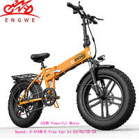Electric bike 20*4.0inch Aluminum Foldable electric Bicycle 48V12A 500W 38KM/H 7Speed Powerful Fat Tire bike Mountain snow ebike