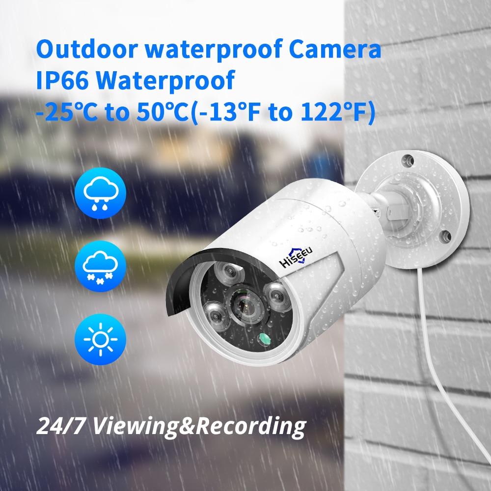 Hiseeu H 265 Audio Security IP Camera POE 4MP ONVIF Outdoor Waterproof IP66 CCTV Camera P2P Hiseeu H.265 Audio Security IP Camera POE 4MP ONVIF Outdoor Waterproof IP66 CCTV Camera P2P Video Surveillance Home for POE NVR