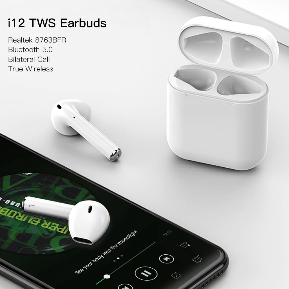 <font><b>Mini</b></font> <font><b>I12</b></font> <font><b>TWS</b></font> <font><b>Bluetooth</b></font> <font><b>5.0</b></font> <font><b>Earphone</b></font> <font><b>Wireless</b></font> <font><b>Smart</b></font> Touch Control Earbuds Headset <font><b>Earphone</b></font> with HIFI Sound Quality Built-in Mic image