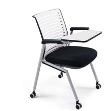 Conference chair retractable news chair training chair with writing board seat folding multifunctional armrest steel stacking conference chair luyisi103025r
