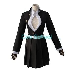 Image 3 - Disfraz de Kanroji Mitsuri para escuela Cos, disfraz de Cosplay de Kimetsu no Yaiba Mitsuri Kanroji, pelucas Kisatsutai, trajes de uniformes