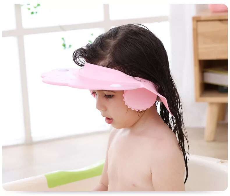 New Style Cartoon Adjustable Children Silica Gel Shower Cap Earmuff Shower Cap Infants Shower Cap Baby Shampoo Cap Shower Cap
