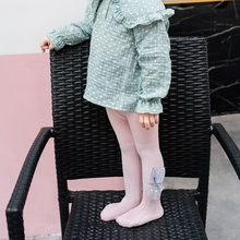 Эластичные лосины Брюки для маленьких девочек весенне-осенние вязаные брюки для малышей