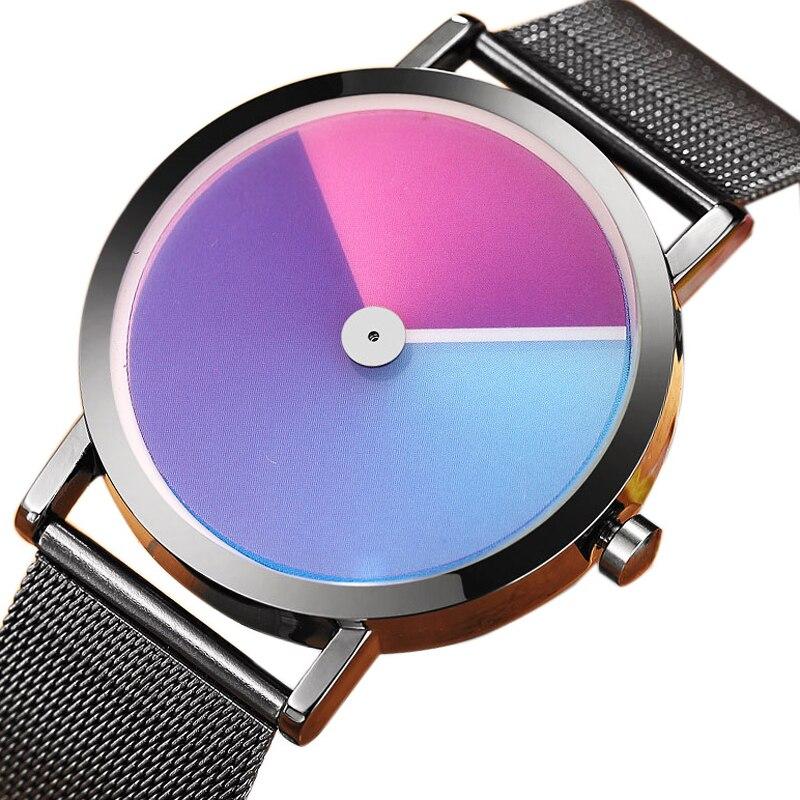 Unique Minimalist Creative Watch Geek Swirl New Fashion Design Brand Luxury Wrist Watch For Men Women Simple Quartz Lovers Watch