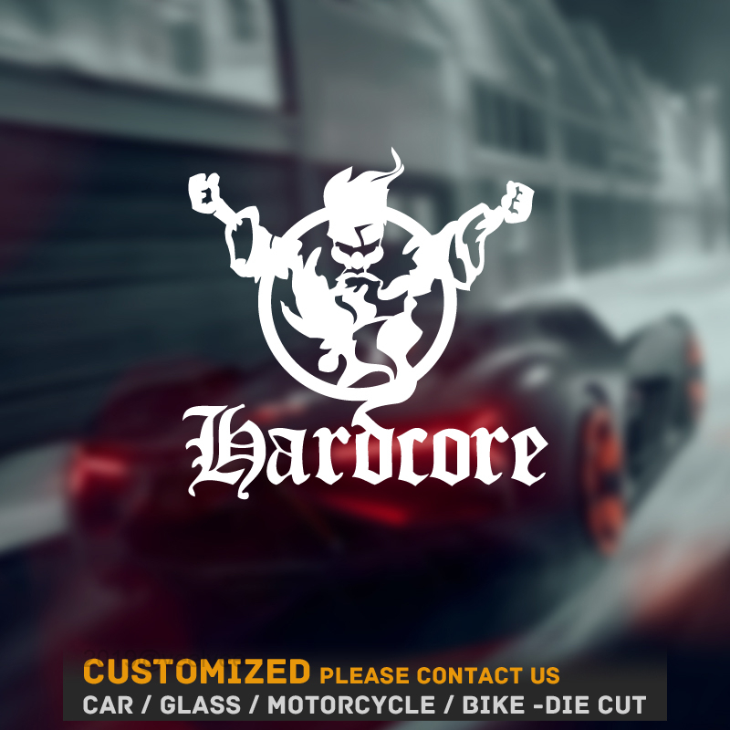 Car Sticker and decals 3D Thunderdome Techno and Gabber Funny car Stickers Vinyl 3d car sticker black/white size 17cm*16.3cm