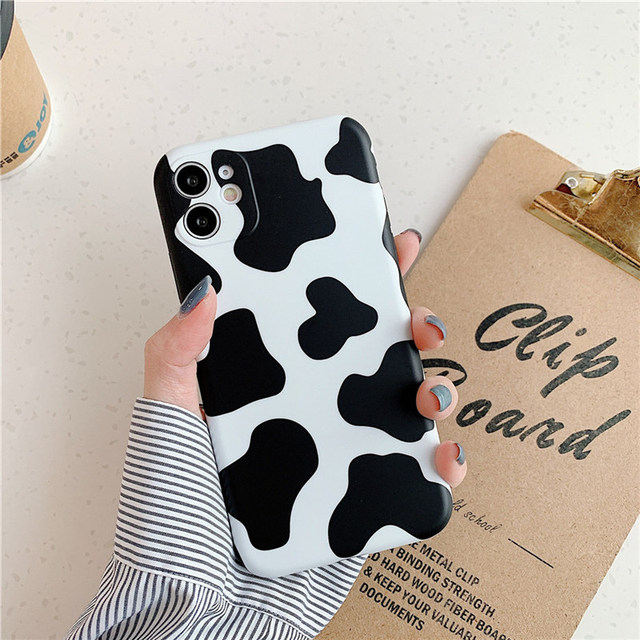 Leopard Print Pattern Cow Phone Case For iPhone 11 12Pro X XR XS Max 8 7 Plus SE 2020 Lens Camera Protection Soft IMD Back Cover 2