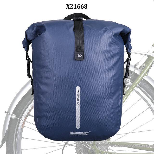 show original title Details about  /Rhinowalk Bike Bag Waterproof Side Bag Luggage Carrier Bag Bicycle 27L