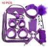 10 purple BDSM set