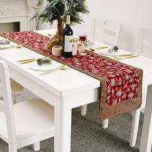Рождественские украшения тканевая настольная дорожка с флагом