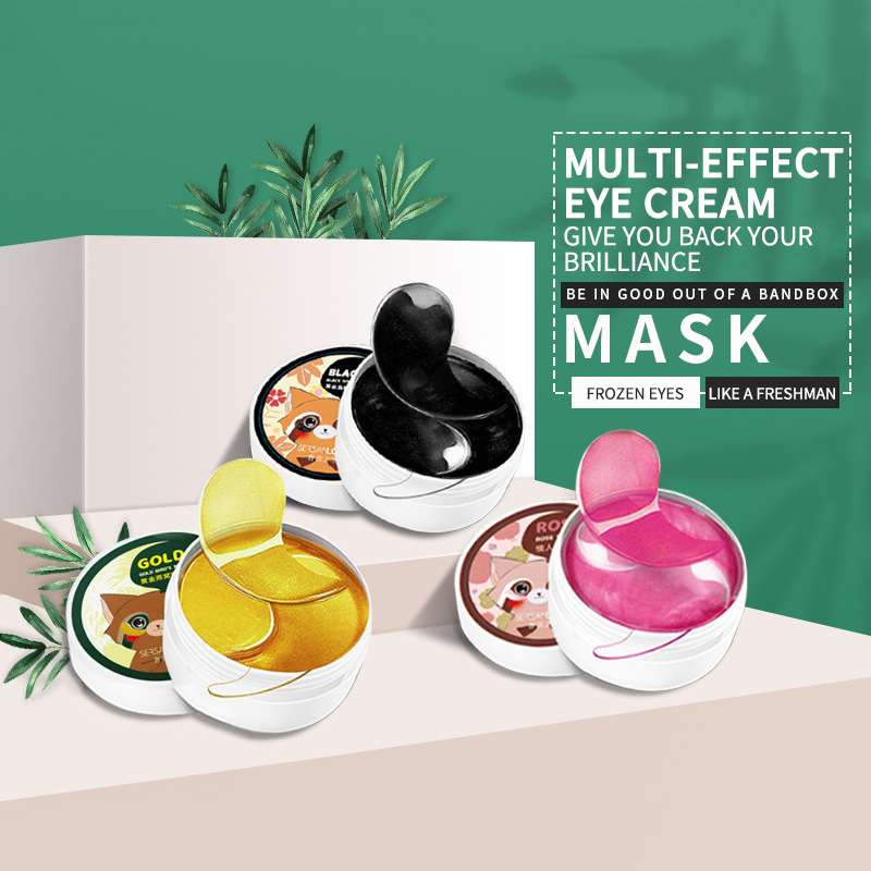 60pcs Rose Eye Mask Fades Fine Lines Eliminate Puffiness Patches Moisturize Eye Mask Remove Stye Crystal Collagen Gel Mask-5