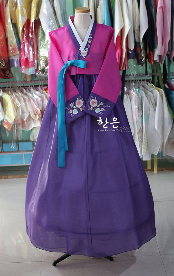 Korea Original Hand Embroidery Hanbok / Wedding Hanbok / Traditional Hanbok / Authentic Hanbok /