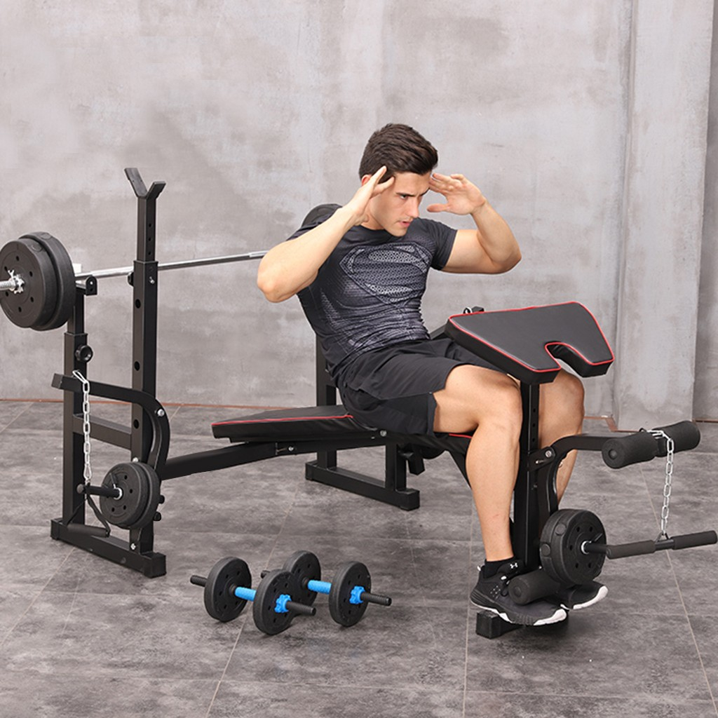 Foldable weightlifting bed bench press multifunctional comprehensive training device home Weight Benches fitness equipment S