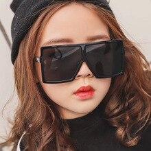 Square Sunglasses Fashion Oversized Trending Brand Designer Girls Oculos-De-Sol Big-Frame