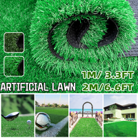 0.5MX1M/2M Artificial Grass Turf Carpet Artificial Grass Outdoor Rug Synthetic Fake Faux Grass Garden Lawn Landscape 1.5CM Thick