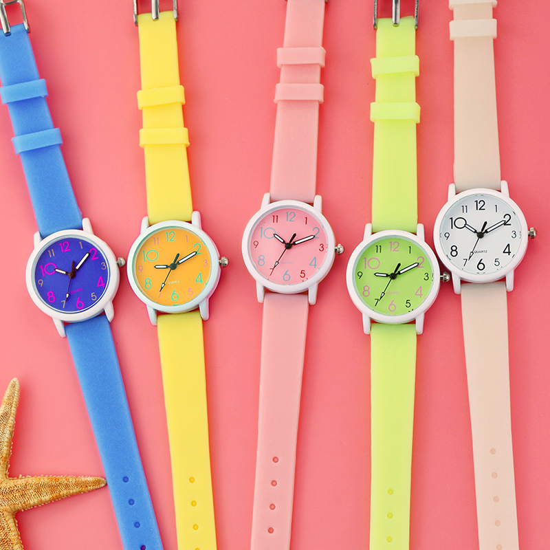Kids Wrist Watch Cartoon Candy Watches Rubber Quartz Clock Best Gift Watch Children Silicone Sports Watch For Girls Reloj Montre
