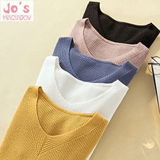 Winter-Knitted-Women-Solid-Sweaters-And-V-Neck-Long-Sleeve-Pullovers-Sweet-Sueter-Mujer-Tops-Casual