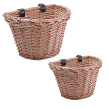 Newest Bicycle Bucket Electric Car Front Rattan Basket Waterproof Sturdy Simple Food Basket High Capacity for Children