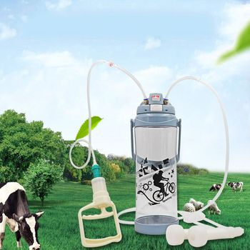Manual Pulse Electric Milking Machine Stainless Steel with Adjustable Suction Goat Sheep Milk Tray for Small Farm