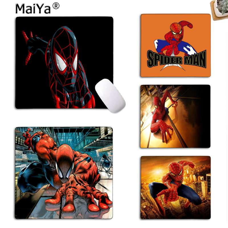 MaiYa  Super Hero Spider Man Customized MousePads Computer Laptop Anime Mouse Mat Rubber PC Computer Gaming Mouse Pad