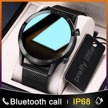 جديد L13 ساعة ذكية الرجال IP68 مقاوم للماء ECG PPG بلوتوث دعوة ضغط الدم جهاز تتبع معدل ضربات القلب لأغراض اللياقة البدنية الرياضة Smartwatch