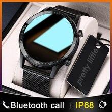 Neue L13 Smart Uhr Männer IP68 Wasserdichte EKG PPG Bluetooth Anruf Blutdruck Herz Rate Fitness Tracker Sport Smartwatch