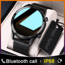 Nowy inteligentny zegarek L13 mężczyźni IP68 wodoodporny ekg PPG Bluetooth zadzwoń ciśnienie krwi pulsometr sportowy sport Smartwatch