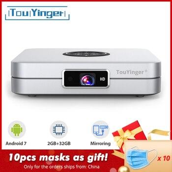 TouYinger K2 DLP proyector inteligente para Android soporte FULL HD 1080P 2,4G + 5G Wifi 2GB RAM 32GB ROM de cine en casa película 3D reproductor de medios
