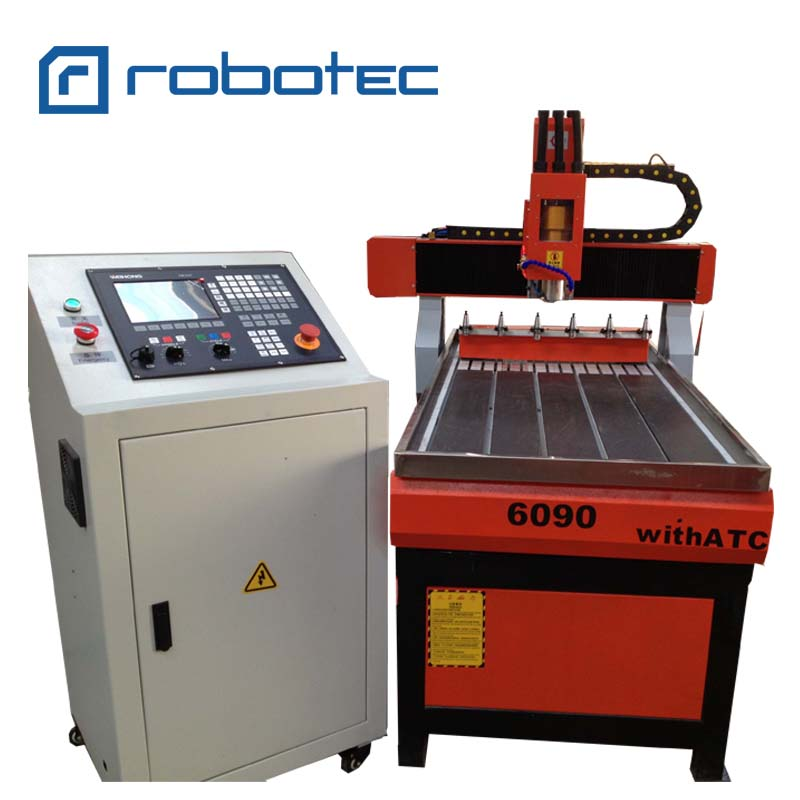 Chair Furniture ATC Wood Carving Machine/ 6090 CNC Router 4 Axis Wood Milling Machine/3D Metal Aluminum CNC Router