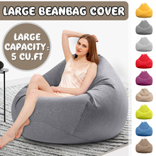 Large Small Lazy BeanBag Sofas Cover Chairs without Filler Linen Cloth Lounger Seat Bean Bag Pouf
