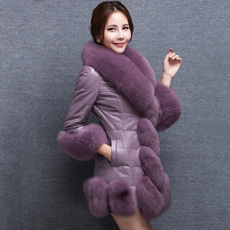 Special Offer Winter Women's Faux Fur High Quality Faux Sheepskin Coats Keep Warm With Fur Fox Collars Slim Female Plus Size