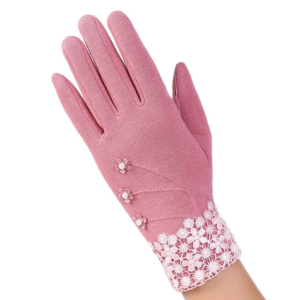Women Summer Sunscreen Gloves Driving Girls Thin Cotton Decent Lace Sun Protection Touch Screen