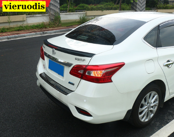 For Nissan Sentra SYLPHY 2012-2018 ABS Plastic Primer Color Rear Spoiler Tail Trunk Boot Wing Decoration Car Styling