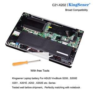 Image 5 - Аккумулятор KingSener для ноутбука ASUS VivoBook S200, S200E, X201, X201E, X202, X202E, Φ, 5136 мАч