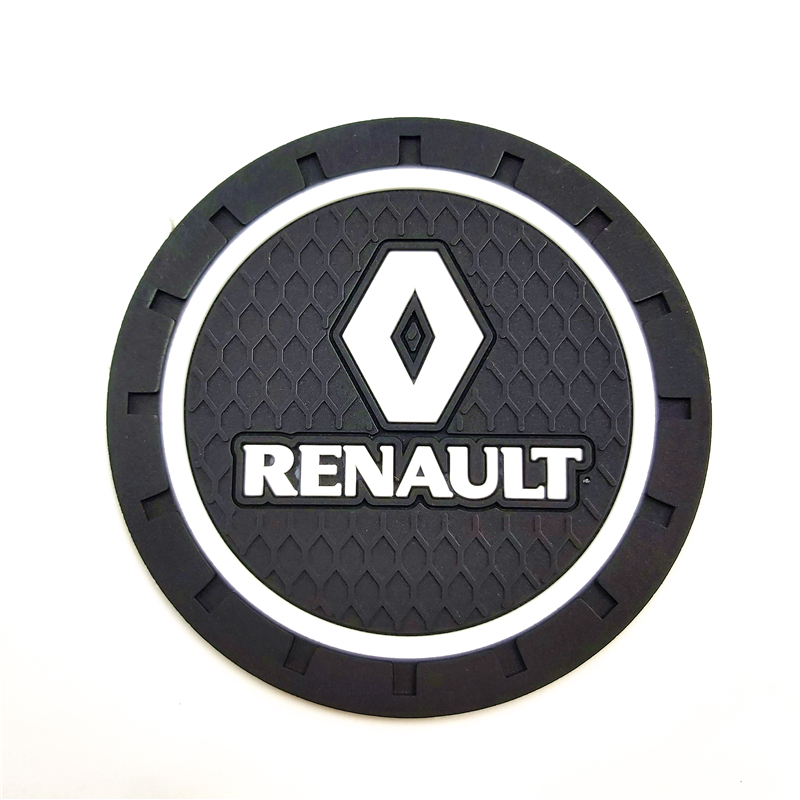 Image 2 - 3D Fashoin Car coaster mat For Renault Megane 2 3 Duster Logan Clio Laguna 2 Captur Motor Car Styling Accessories Automobiles-in Car Tax Disc Holders from Automobiles & Motorcycles