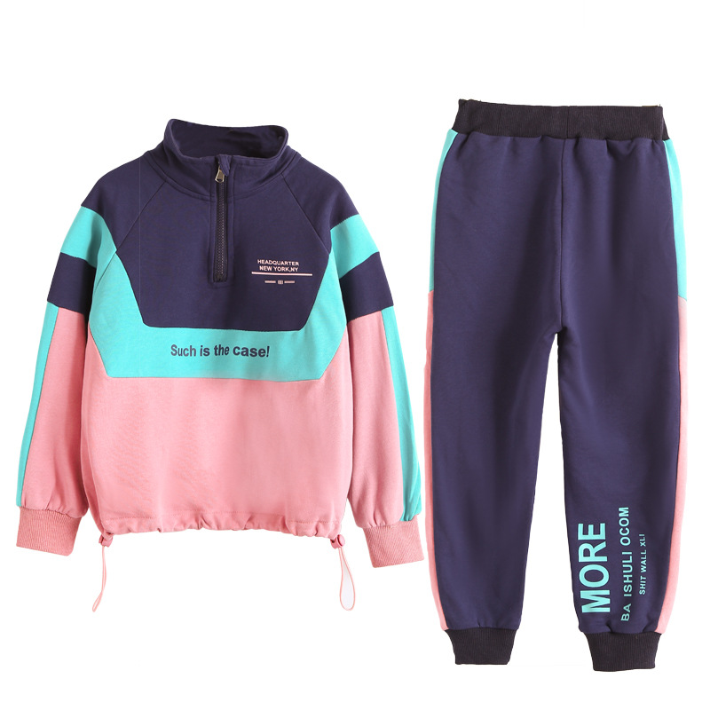 Girls Clothes Sets Autumn Children's Clothing Set Sweatshirt + Pants  Two-piece Casual Kids Sport Suits Teenage 8 9 10 12 14years - Super Promo  #25528   Cicig