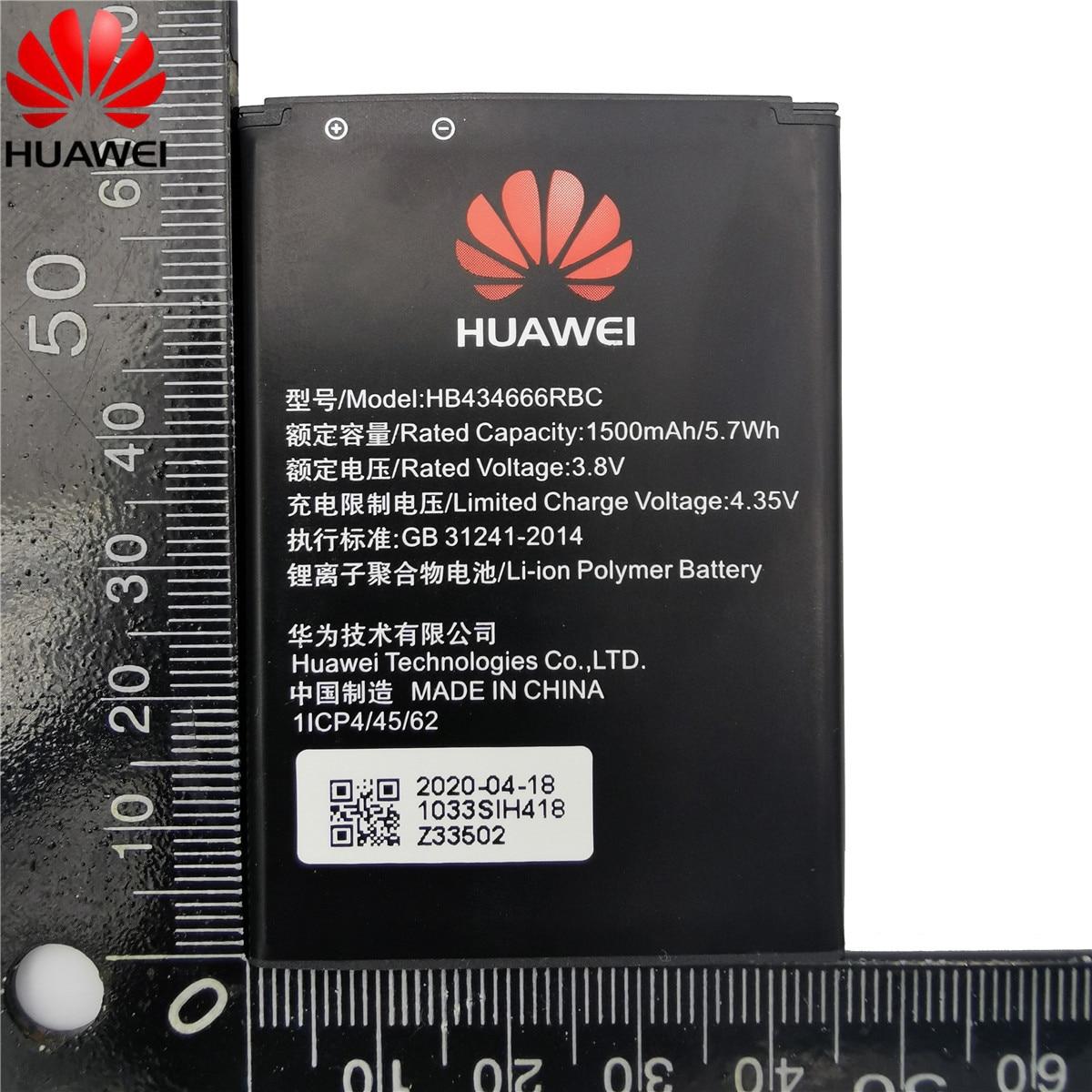 100% Original Battery HB434666RBC For Huawei Router E5573 E5573S E5573s-32 E5573s-320 E5573s-606 -806 High Capacity 1500mAh 6