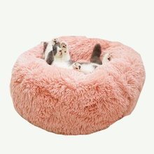 Long Plush Dog Bed Super Soft Round Cat House Pet For Small Dogs Cats Cave Puppy Mat Winter Warm Sleeping