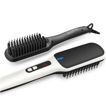 PRITECH Fast Heating Ionic Hair Straightener Brush Cordless Electric Hair Straightener Comb LCD Display Flat Hair Styling Tool цена 2017