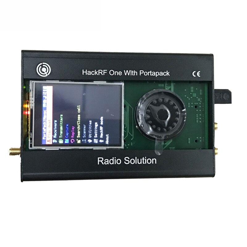 PORTAPACK для HACKRF ONE, последняя версия, от 1 МГц до 6 ГГц, SDR, программное обеспечение, радио + металлический чехол + 0,5 ppm TXCO + сенсорный ЖК-экран, 2020