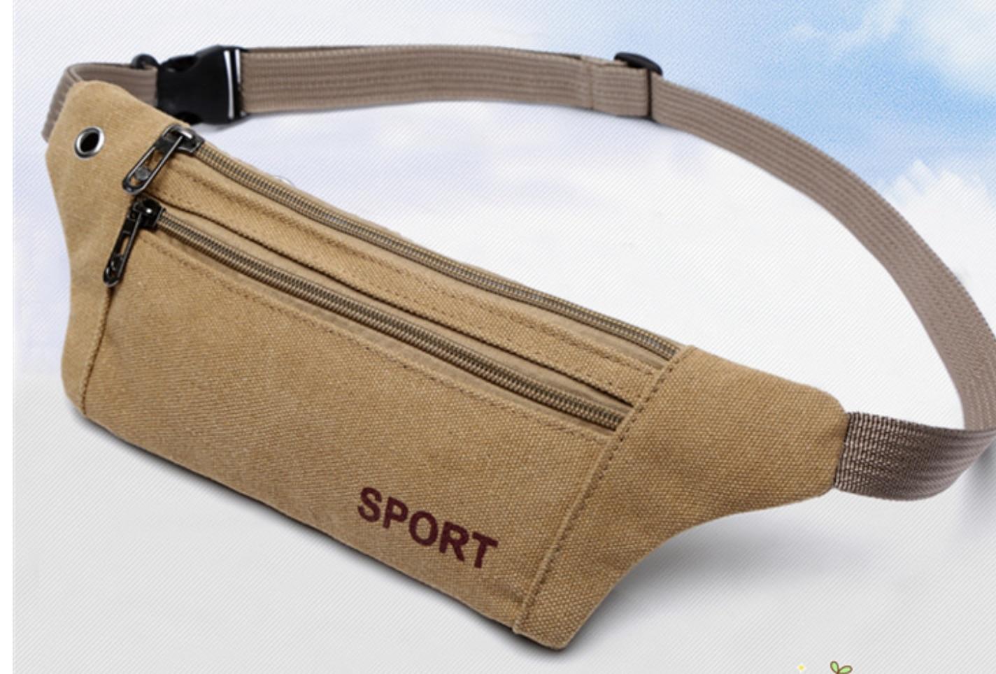 Canvas Bodypacks Men Outdoor Sports Bodypacks Multi Function Running Bodypacks Women Wallet Mobile Bags
