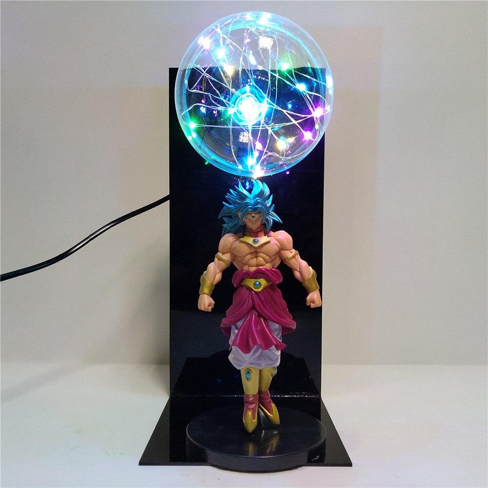Dragon Ball Z Figures Broly LED Bulb Table Lamp Anime Dragon Ball Super Saiyan Broly DIY Lampara for Children Christmas Toy Gift