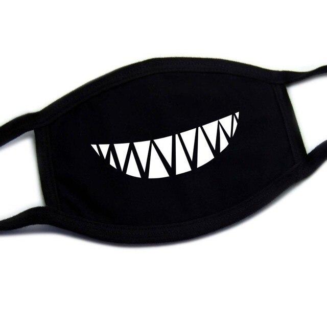 Cotton Dust Mask Cartoon Expression Teeth Muffle Chanyeol Face Respirator Anti Kpop Bear Mouth Mask winter mask bigbang 3