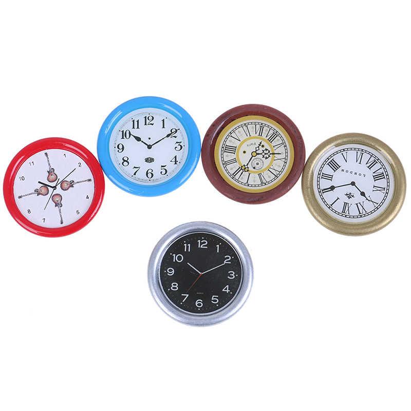 1:12 Skala Miniatur Mainan Boneka Yang Indah Dapur Ruang Tamu Aksesoris Jam Alarm Mini Home Dekorasi Rumah Boneka