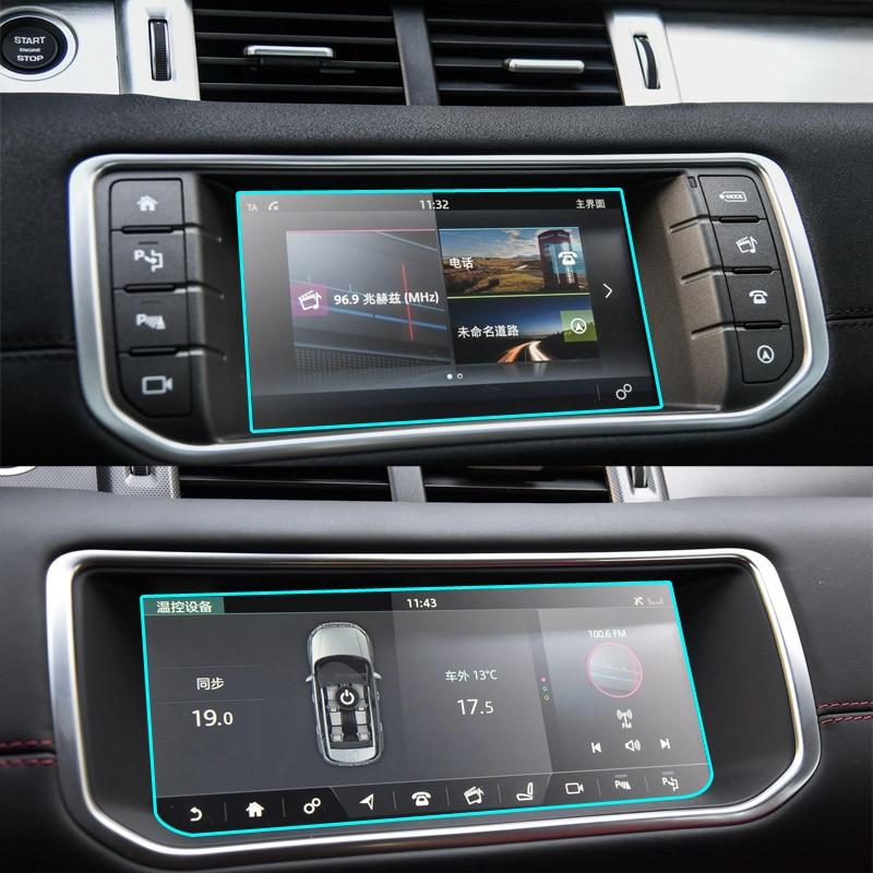 Protetor de vidro moderado da película protetora para a tela de toque da navegação de gps do carro de range rover evoque 2013-2018