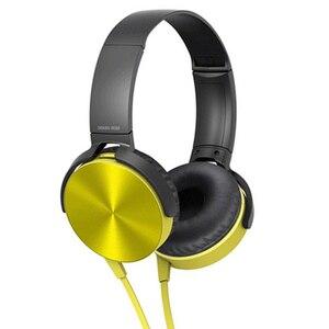 Image 2 - 3.5mm אודיו על אוזן אוזניות עם מיקרופון מחשב לוח מחשב נייד מחשב נייד מתקפל שטוח סטריאו בס אוזניות אוזניות עם 1.2M כבל