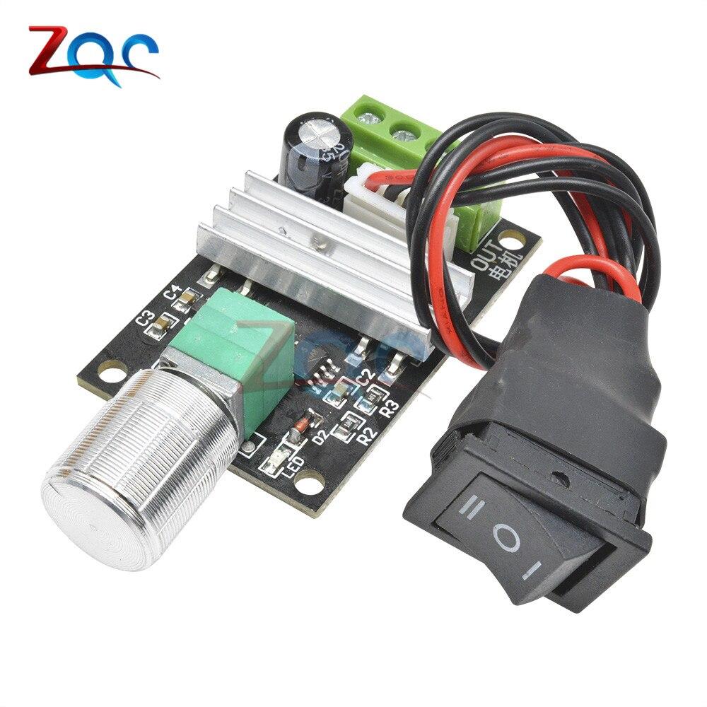 dc motor speed controller pwm 6v 12v 24v 3a variable speed regulator switch