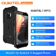 Oukitel wp12 5.5 hd hd hd + android 11 helio a20 4gb 32gb quad core 720*1400 4000mah 13mp câmera ip68 ip69k robusto nfc telefone móvel